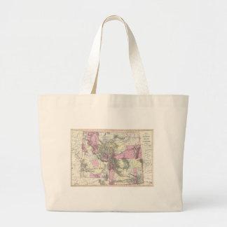 Vintage Map of Montana, Wyoming and Idaho (1884) Canvas Bag