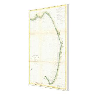 Vintage Map of Monterey Bay California (1857) Canvas Print