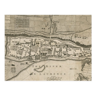 Vintage Map of Montreal (1758) Postcard