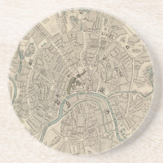 Vintage Map of Moscow (1836) Coaster