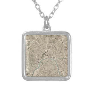 Vintage Map of Moscow (1836) Custom Necklace