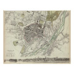 Vintage Map of Munich Germany (1832) Poster
