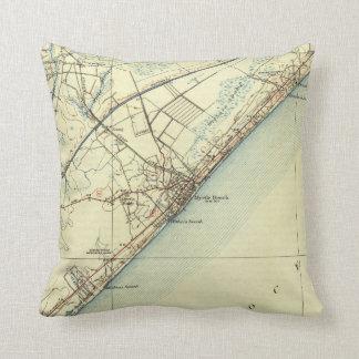 Vintage Map of Myrtle Beach South Carolina (1940) Cushion