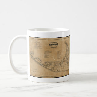 Vintage Map of Nantucket (1869) Basic White Mug