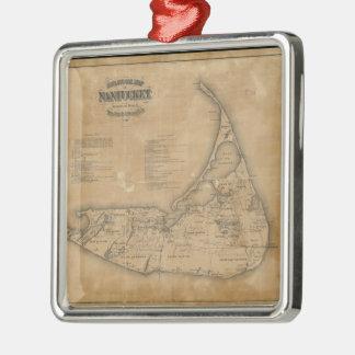 Vintage Map of Nantucket (1869) Christmas Ornament