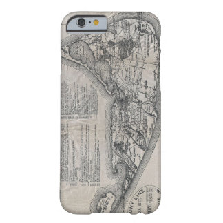 Vintage Map of Nantucket Barely There iPhone 6 Case