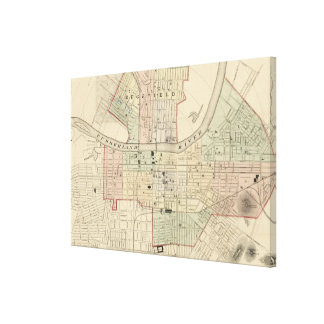 Vintage Map of Nashville Tennessee (1877) Canvas Print