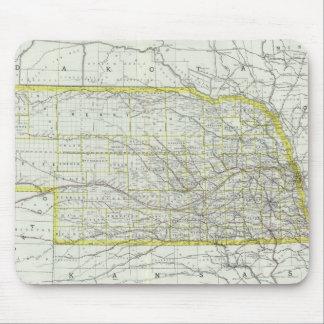 Vintage Map of Nebraska (1889) Mouse Pad