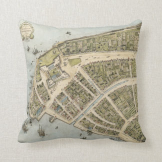 Vintage Map of New Amsterdam (1660) Cushion