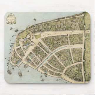 Vintage Map of New Amsterdam (1660) Mouse Mat