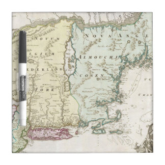 Vintage Map of New England 1716 Dry-Erase Whiteboard
