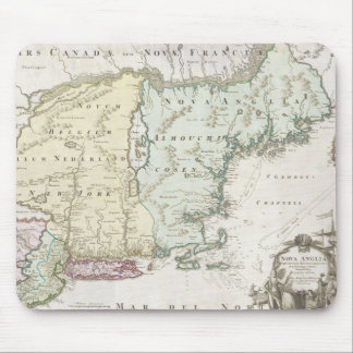 Vintage Map of New England 1716 Mouse Pads