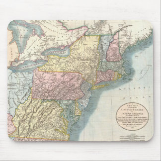 Vintage Map of New England 1821 Mousepads