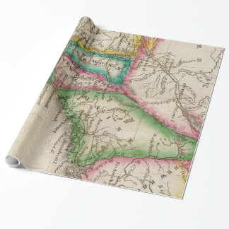 Vintage Map of New England (1822) Wrapping Paper