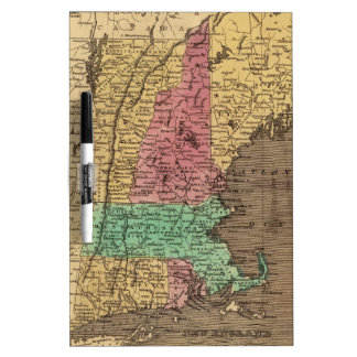 Vintage Map of New England 1836 Dry Erase Whiteboard