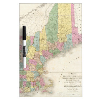 Vintage Map of New England 1839 Dry-Erase Boards