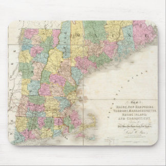 Vintage Map of New England (1839) Mouse Pad