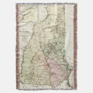 Vintage Map of New Hampshire (1796) Throw Blanket