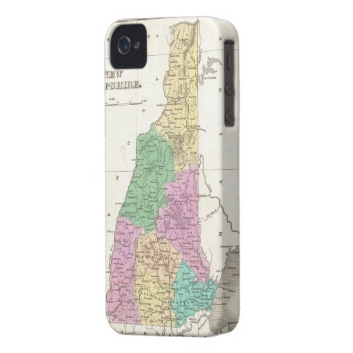 Vintage Map of New Hampshire (1827) Case-Mate iPhone 4 Case