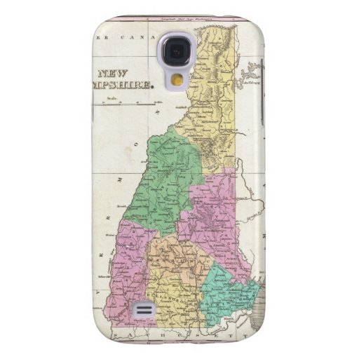 Vintage Map of New Hampshire (1827) Samsung Galaxy S4 Covers