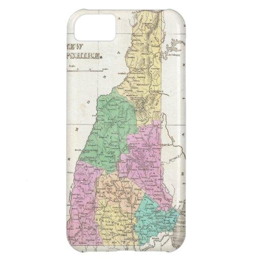 Vintage Map of New Hampshire (1827) Case For iPhone 5C