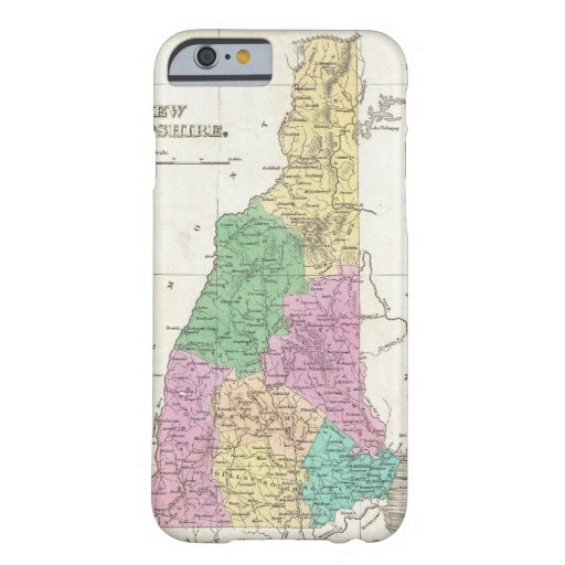 Vintage Map of New Hampshire (1827) iPhone 6 Case