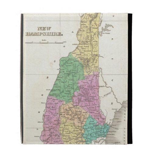 Vintage Map of New Hampshire (1827) iPad Folio Covers
