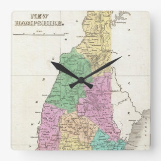 Vintage Map of New Hampshire (1827) Clock