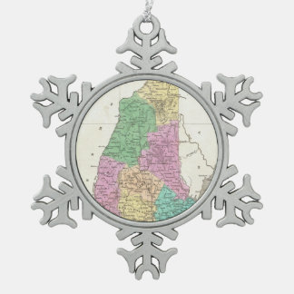 Vintage Map of New Hampshire (1827) Ornament