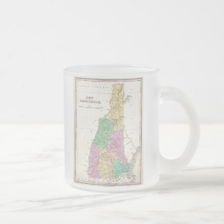 Vintage Map of New Hampshire (1827) Frosted Glass Mug