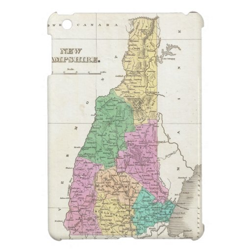 Vintage Map of New Hampshire (1827) iPad Mini Cases