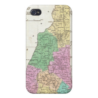 Vintage Map of New Hampshire (1827) iPhone 4 Cover
