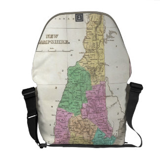 Vintage Map of New Hampshire (1827) Messenger Bags