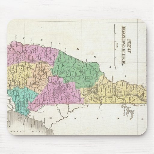 Vintage Map of New Hampshire (1827) Mouse Pads