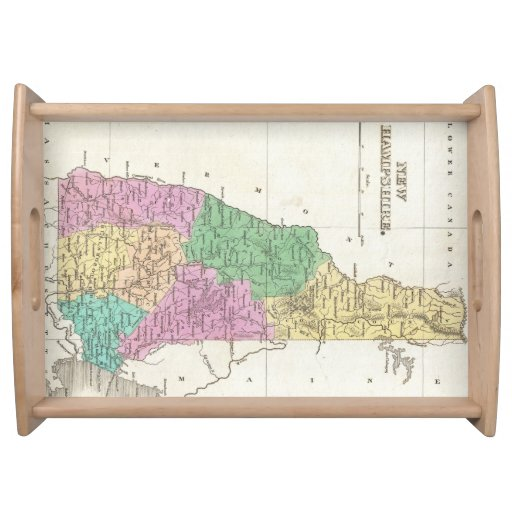 Vintage Map of New Hampshire (1827) Serving Trays