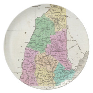 Vintage Map of New Hampshire (1827) Dinner Plate