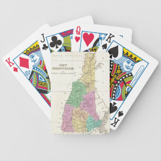 Vintage Map of New Hampshire 1827 Bicycle Poker Cards