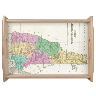 Vintage Map of New Hampshire 1827 Serving Trays