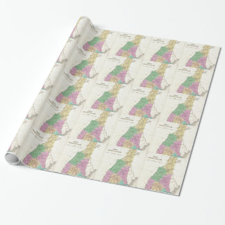 Vintage Map of New Hampshire (1827) Wrapping Paper