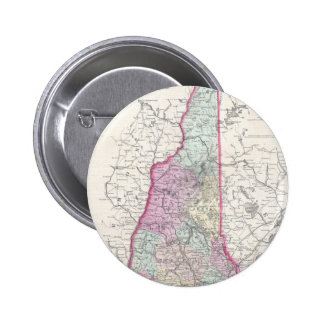 Vintage Map of New Hampshire (1855) Button