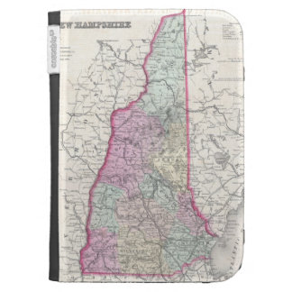 Vintage Map of New Hampshire 1855 Case For Kindle
