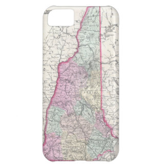 Vintage Map of New Hampshire (1855) iPhone 5C Cases