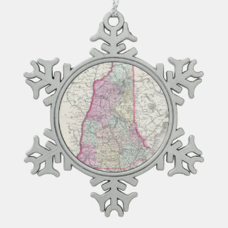 Vintage Map of New Hampshire (1855) Ornament