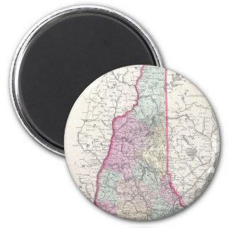 Vintage Map of New Hampshire 1855 Fridge Magnet