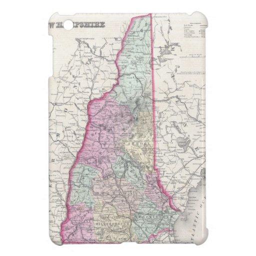 Vintage Map of New Hampshire (1855) iPad Mini Cases