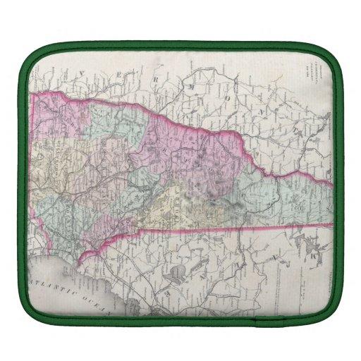 Vintage Map of New Hampshire (1855) iPad Sleeve