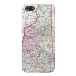 Vintage Map of New Hampshire 1855 iPhone 5 Covers