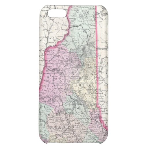 Vintage Map of New Hampshire (1855) Case For iPhone 5C