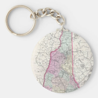 Vintage Map of New Hampshire (1855) Key Chain