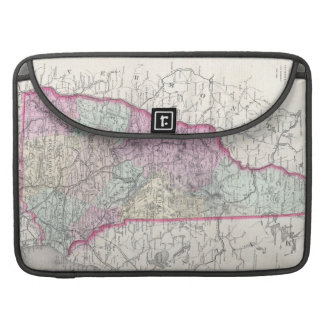 Vintage Map of New Hampshire (1855) MacBook Pro Sleeve